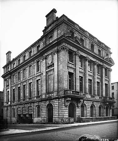 Sunderland House | Mayfair, London, England. Exterior view of Sunderland House on Curzon St, with its return to East Chapel St, now renamed Trebeck Street, to the left of frame. Residence built for Consuelo (Vanderbilt), Duchess of Marlborough with funds from her father William K. Vanderbilt.