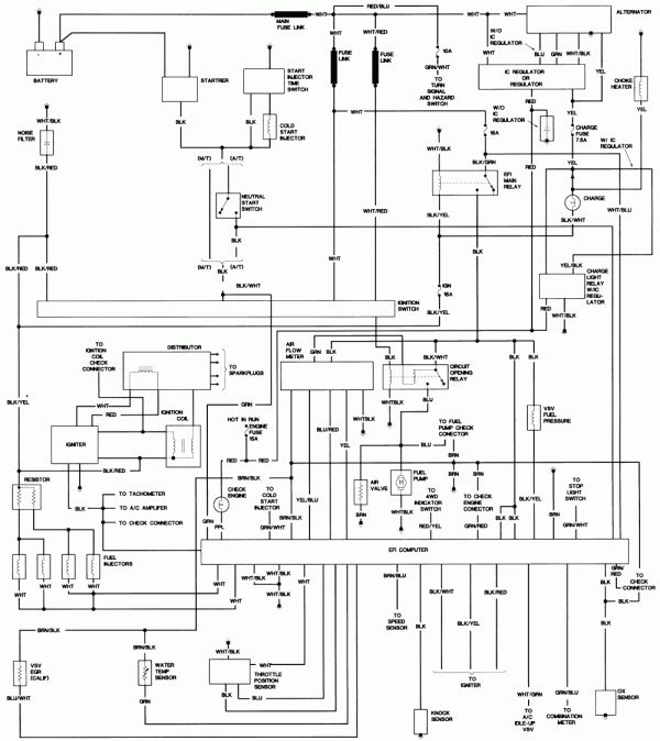 Toyota 22Re Engine Wiring Diagram and Wiring Diagram R - Yotatech Forums in  2020 | Electrical diagram, Toyota, DiagramPinterest