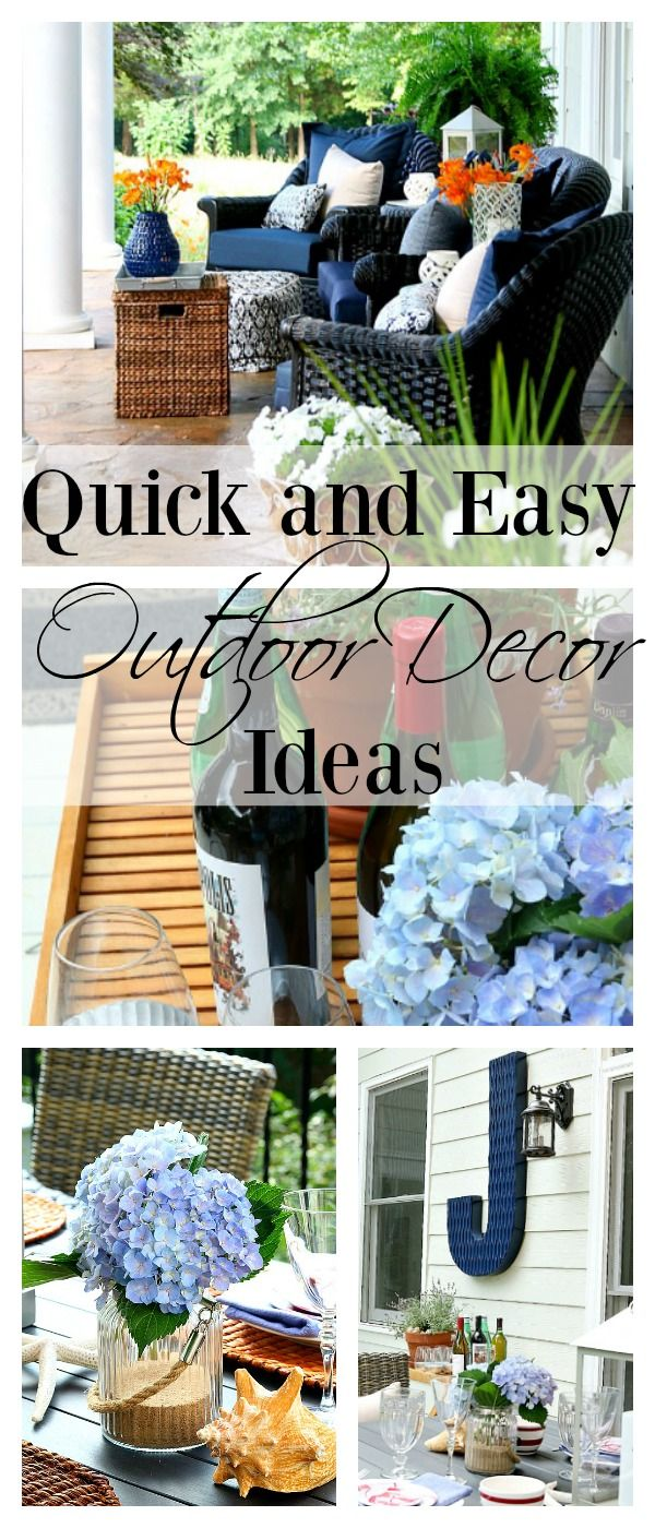 231 best images about porches and patios on pinterest for Simple outdoor decorating ideas