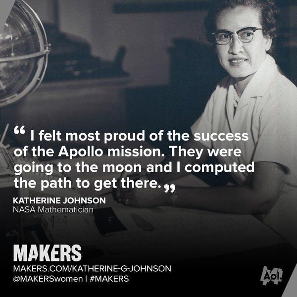 "Science Hidden Facts: MAKERS On Twitter: ""Mathematician Katherine G. Johnson"