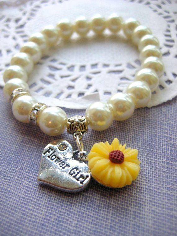 Hey, I found this really awesome Etsy listing at https://www.etsy.com/uk/listing/168801585/sunflower-flower-girl-stretchy-bracelet