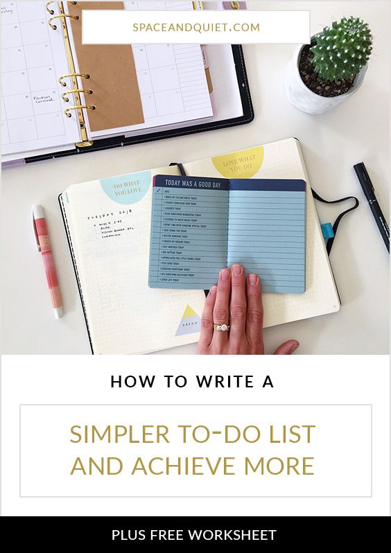 Is writing your daily to-do list leaving you feeling more overwhelmed than organised? Click through to learn how to write a simpler to-do list that is focused on what really matters to you. Plus, download a free worksheet to help you work through the techniques! Ideal for bullet journal or any planner.