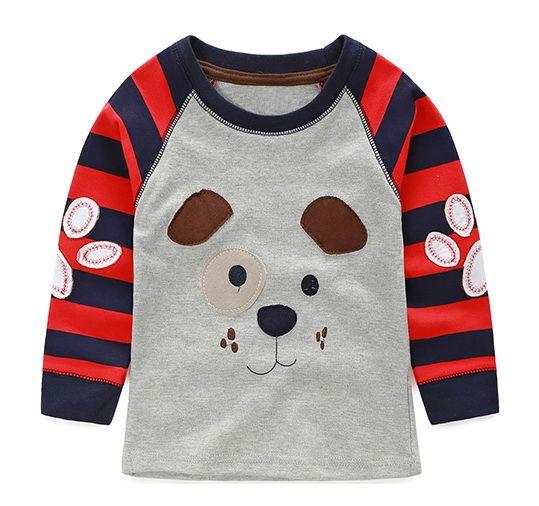 Aliexpress.com: Comprar 1 8 años T shirt camiseta de los niños del bebé marca de camisetas de los niños camisetas de manga larga 100% algodón chaqueta de punto camisas de camiseta de peluche fiable proveedores en OneToo
