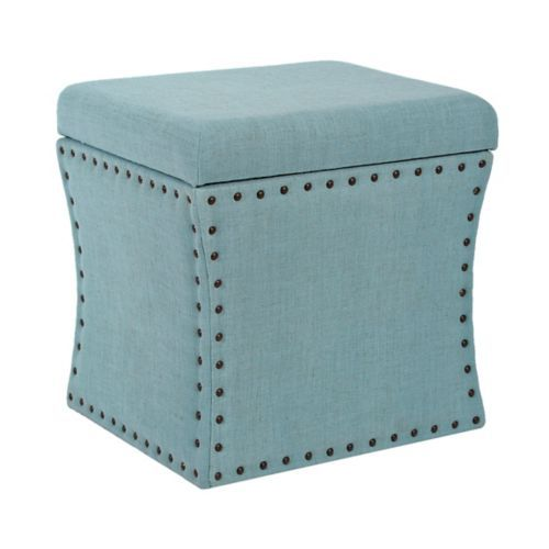 Blue Herringbone Storage Ottoman - 25+ Best Ideas About Ottoman Storage On Pinterest Cushion