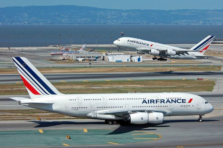 Sometimes you are in the right place at the right time with the right equipment: A delayed Air France Airbus A380 departs San Francisco International Airport while the regularly-scheduled Air France A380 taxis to the A ramp after landing. @flysfo #flysfo #airfrance #Airbus #a380lovers #a380 #a388 #fhpjb #fhpjd #super #majesticsuper #sfo #shadowtower #ramptower #luck #timing #twoforone #thatstwoforme by jetarazzi