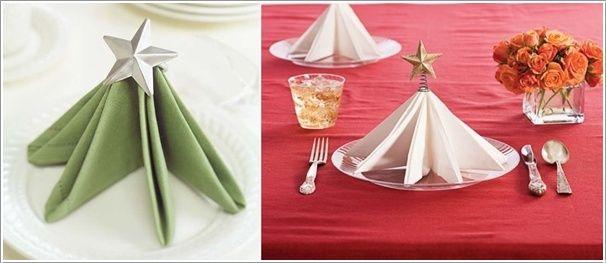 10 festive napkin decor ideas for Christmas