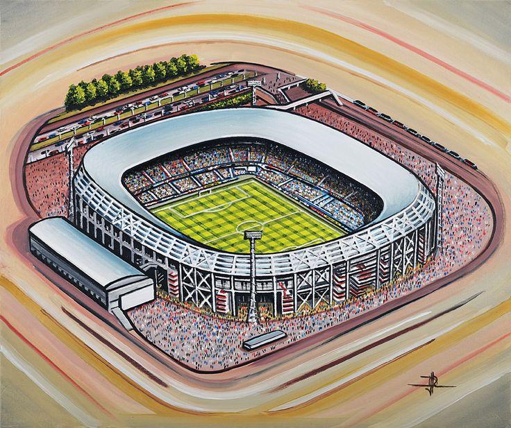 Stadion Feijenoord(De Kuip) home of Feyenoord @ www.sportsstadiaart.co.uk