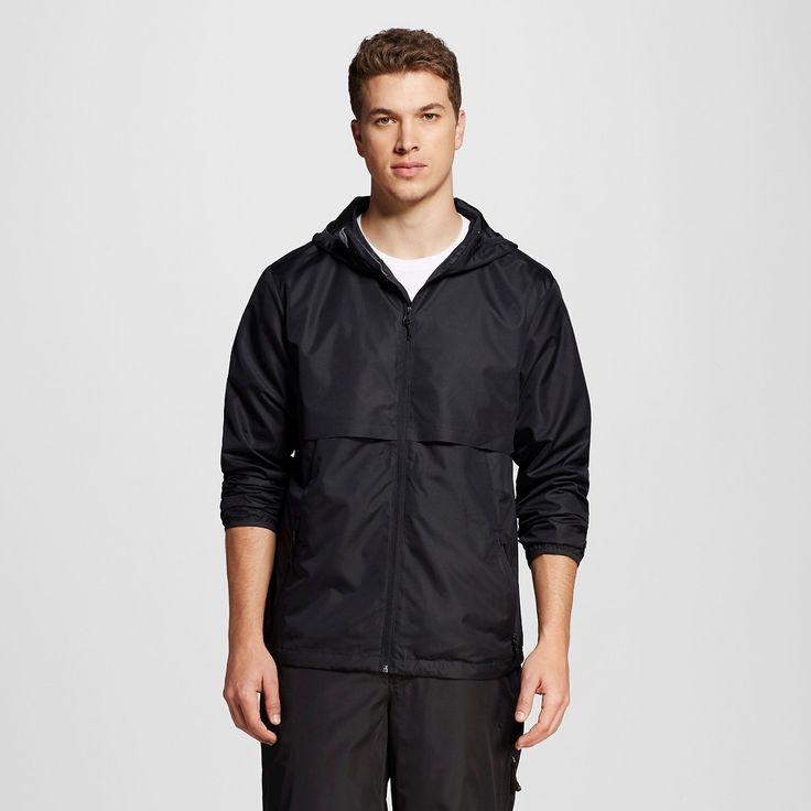 Men's Packable Water Resistant Jacket Black XL - C9 Champion, Ebony