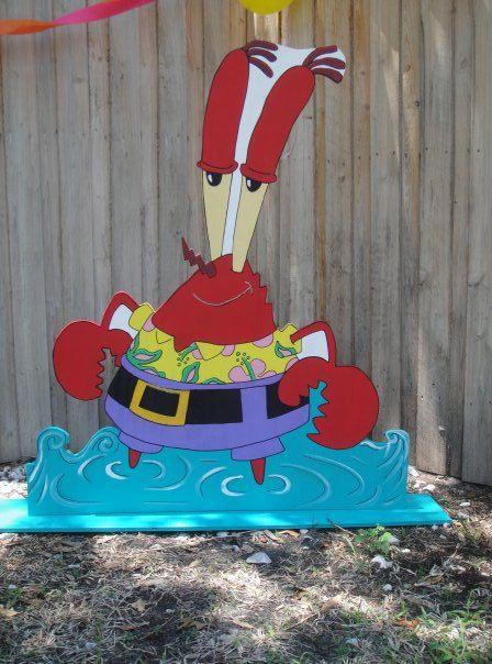 Mr Krabs 50 Inch Standee Spongebob Birthday Decor By