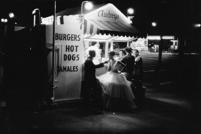 Hot Dog Stand 3 AM, a photo by William Caxton, Los Angeles, 1953
