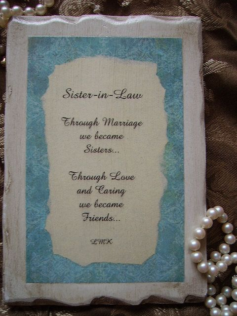 Sister In Law Poems: Best 25+ Sister In Law Ideas On Pinterest