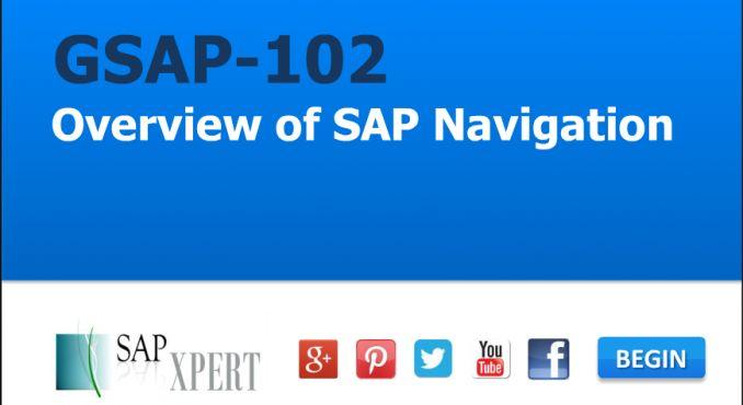 Overview of SAP Navigation (GSAP-102) on by SAP XPERT