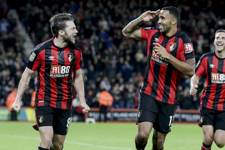 Callum Wilson scored a penalty in his first game for nine months and set up Benik Afobe with a fine assist in the 3-1 win against Middlesbrough in the Carabao Cup at Vitality Stadium 24/10/17
