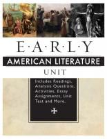 Early American Literature Unit
