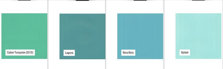 Porters Paints turquoise variations