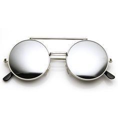 Last Time Around: Steampunk Vintage Inspired Retro Round Circle Flip Up Sunglasses 8795