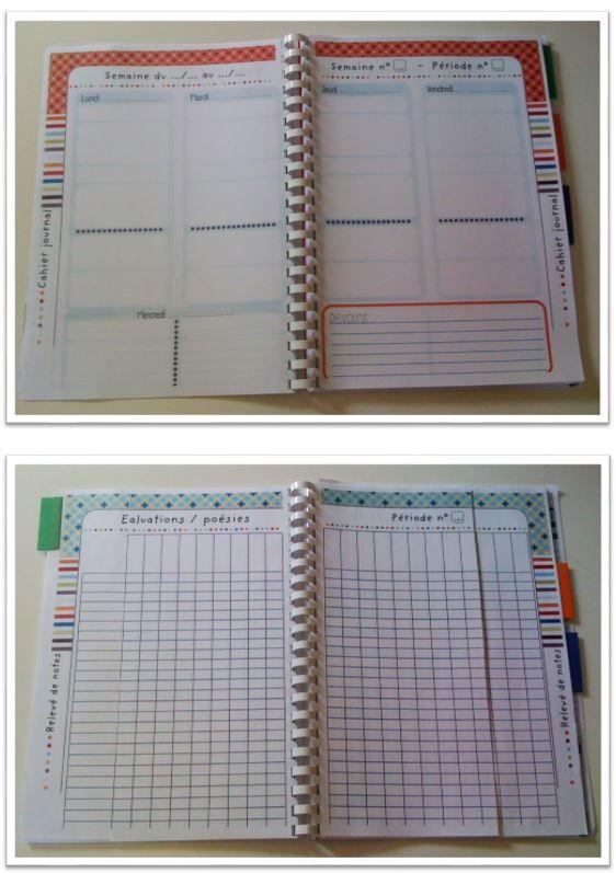 Cahier de planification de la maîtresse