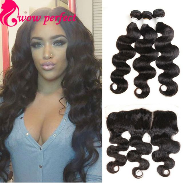 13 x 4 ear to ear lace frontal closure with bundles brazilian body wave  with closure