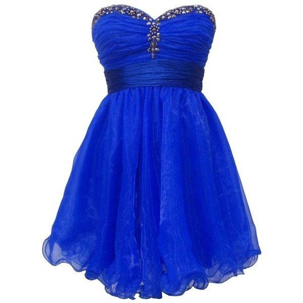 Azul brilhante, COBALTO BLUR, azul elétrico vestidos curtos baile,... ❤ liked on Polyvore