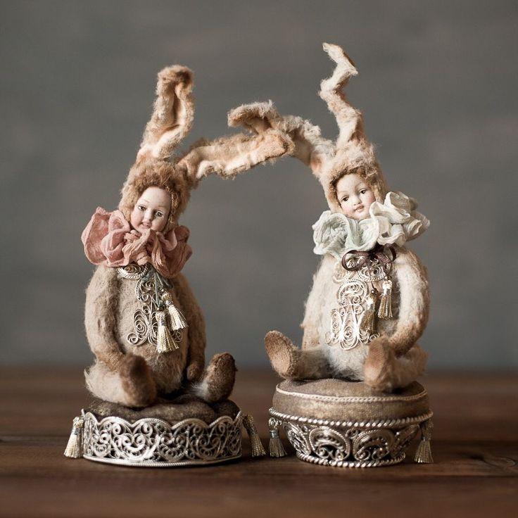 Купить Peony teddy-doll (резерв) - антиквариат, антикварная кукла, тедди, тедди-долл, филигрань
