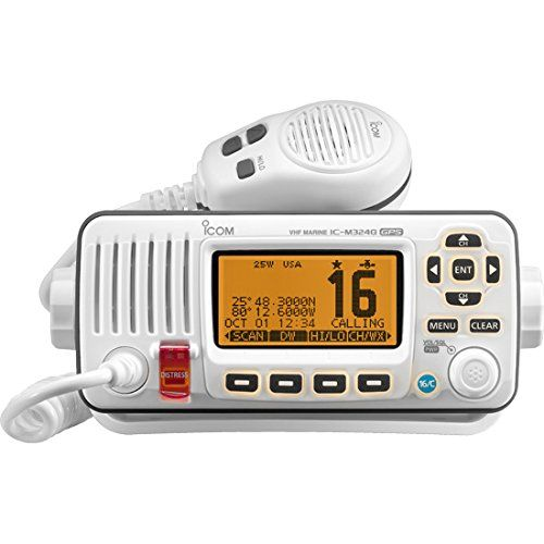 ICOM ICM324G 22 Marine VHF Radio with GPS in White * Click image for more details.Note:It is affiliate link to Amazon.