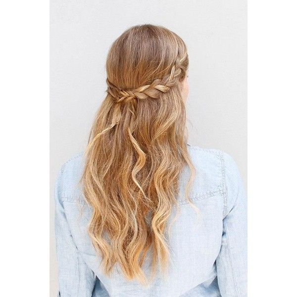 Wear This Hair Boho Braided Hairstyle How-To Divine Caroline ❤ liked on Polyvore featuring beauty products, haircare, hair styling tools, hair, hairstyles, hair styles, cabelos and beauty