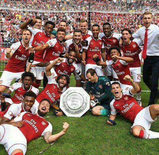 Community shield winners 2017/18.....Arsenal ❤