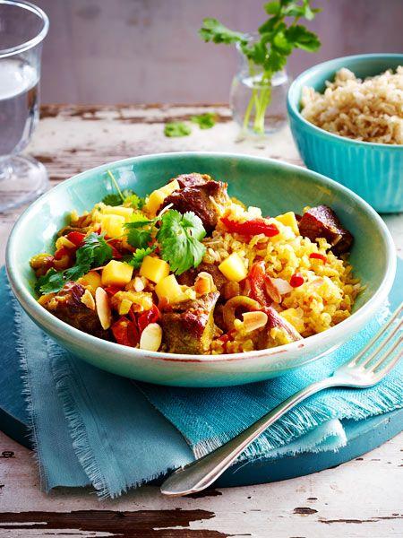 Lamm-Curry mit Mango und Mandeln