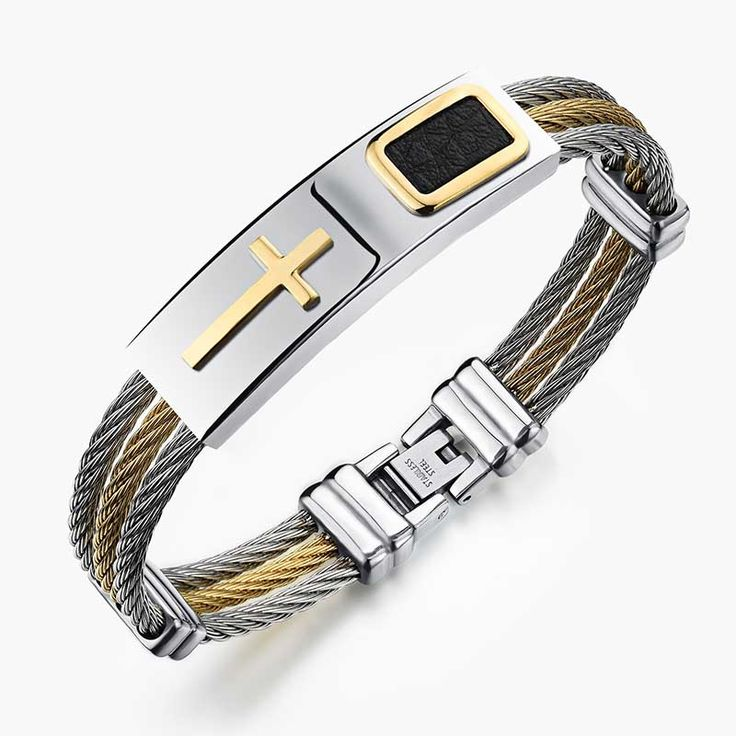 Premium Gold Stainless Steel Bracelet     Tag a friend who would love this!     FREE Shipping Worldwide     Get it here ---> https://levanra.com/premium-gold-stainless-steel-bracelet/