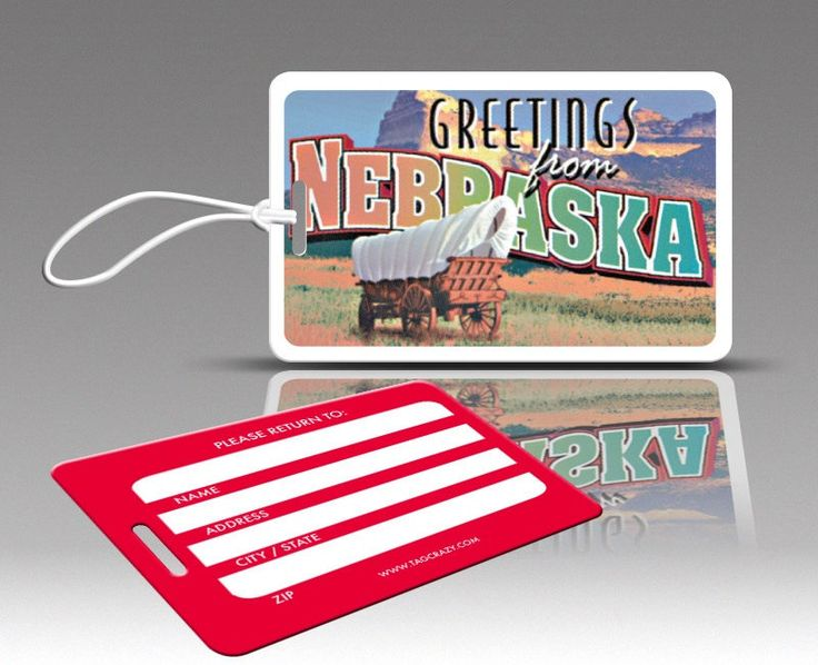 2 NEBRASKA Luggage Tags, Travel Luggage Tags, Suitcase Tags, Novelty Bag Tags, Plastic Luggage Tags, Cute Luggage Tags by TagCrazy on Etsy https://www.etsy.com/listing/226198014/2-nebraska-luggage-tags-travel-luggage