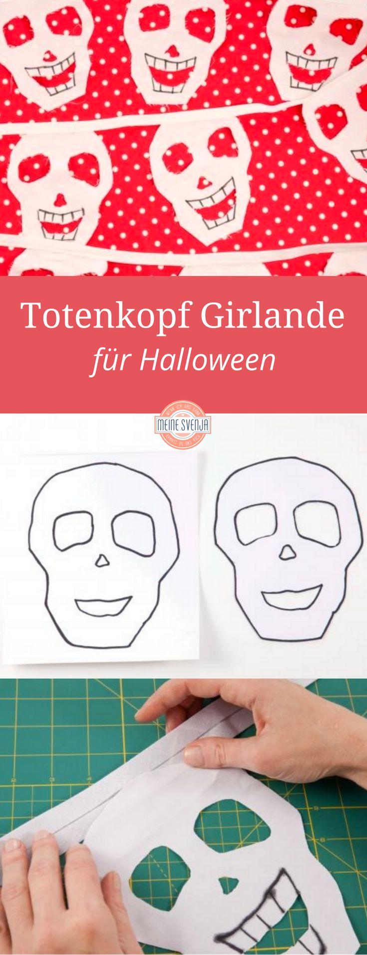Totenkopfgirlande - Totenkopf Wimpelkette