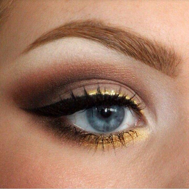 Gold Eyeliner Make Uup Pinterest Gold Eyeliner