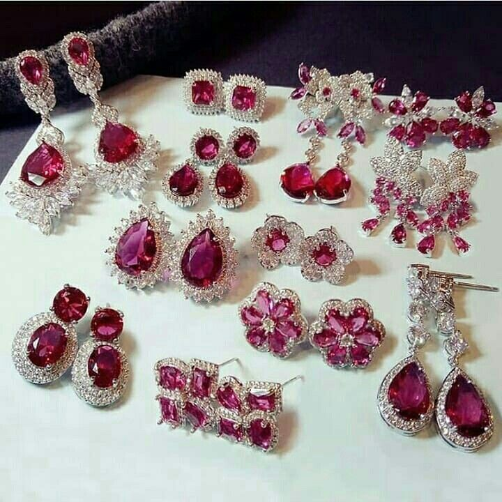 Fashion Vintage Big Water Drop Green Crystal stone Long Earrings Flower Cubic