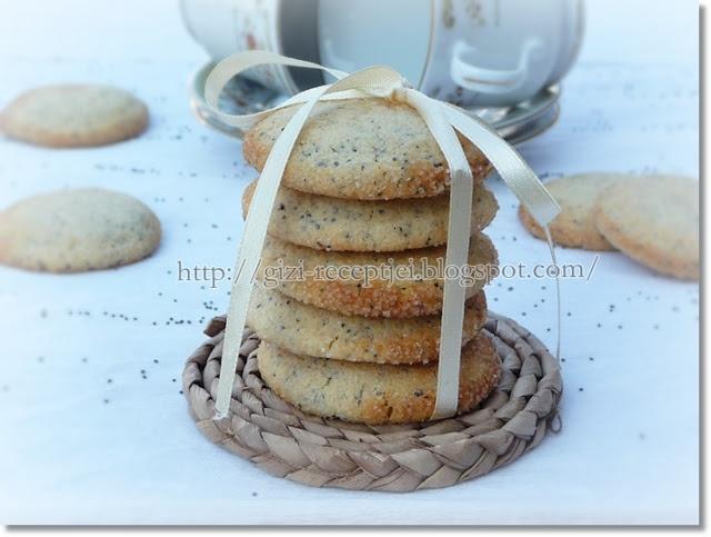 Gizi-receptjei. Várok mindenkit.: Citromos-mákos omlós keksz.