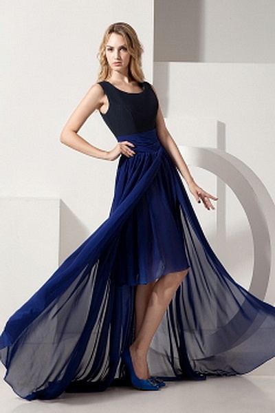 Blue Chiffon A-Line Celebrity Gown sfp1450 - http://www.shopforparty.com/blue-chiffon-a-line-celebrity-gown-sfp1450.html - COLOR: Blue; SILHOUETTE: A-Line; NECKLINE: Scoop; EMBELLISHMENTS: Ruched; FABRIC: Chiffon - 181USD