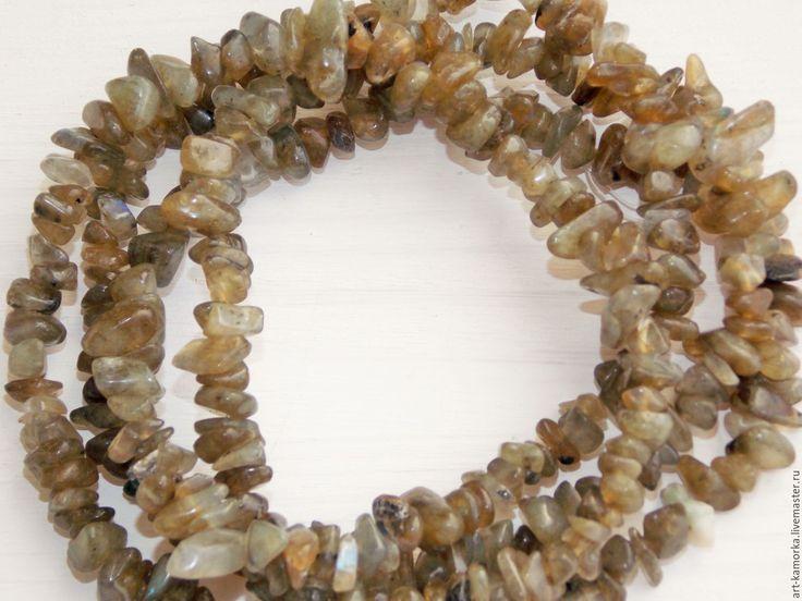 Купить Лабрадорит. нить 80 см. - серый, лабрадорит, камни, камни нитями, камешки для творчества