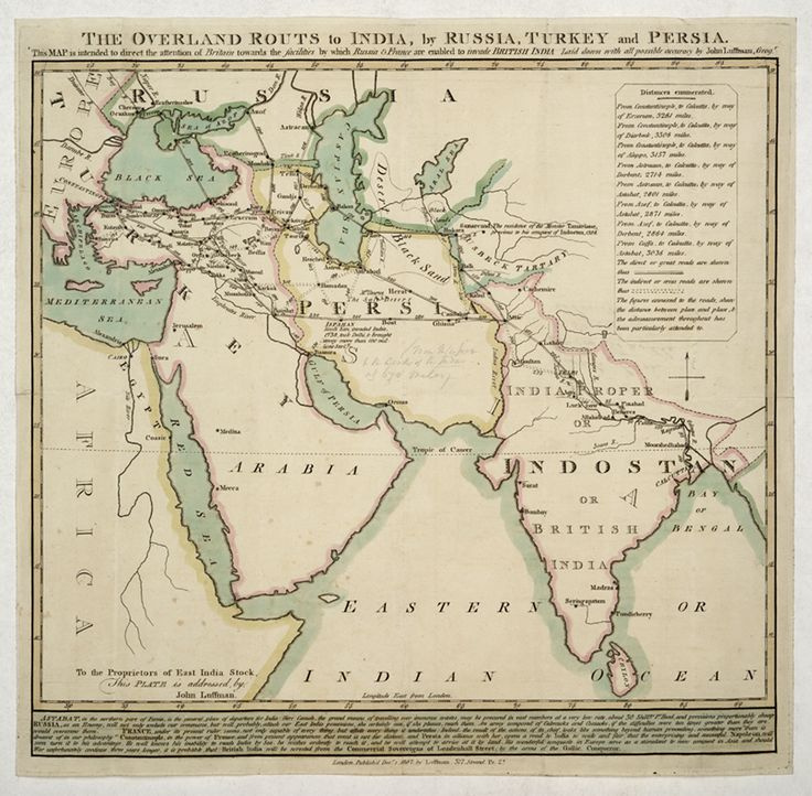 The overland route to India in 1807