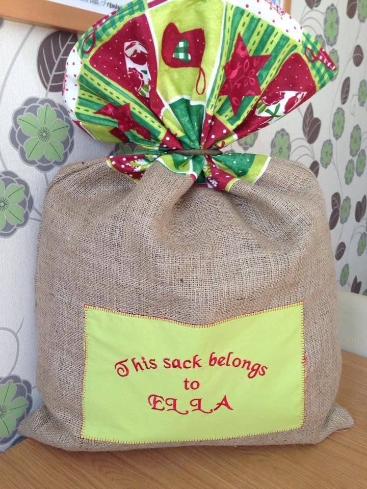 Personalised Christmas Sack - The Supermums Craft Fair