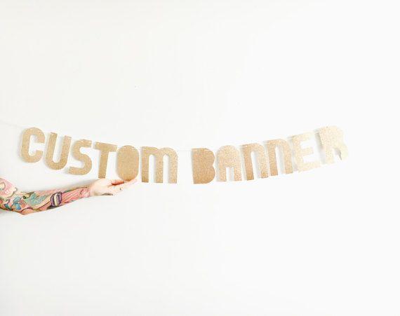 Banner personalizzato  Glitter personalizzato bandiera di pomtree