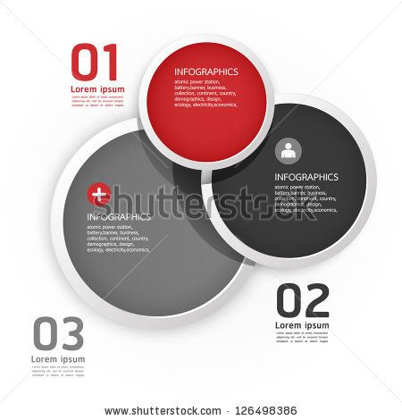 Modern Design Circle template / can be used for infographics / numbered banners / horizontal cutout lines / graphic or website layout vector by ponsuwan, via ShutterStock