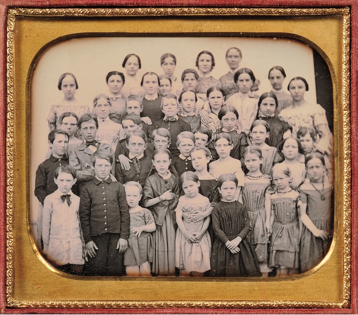(c.1850s) Class Portrait at Petersham, Massachusetts