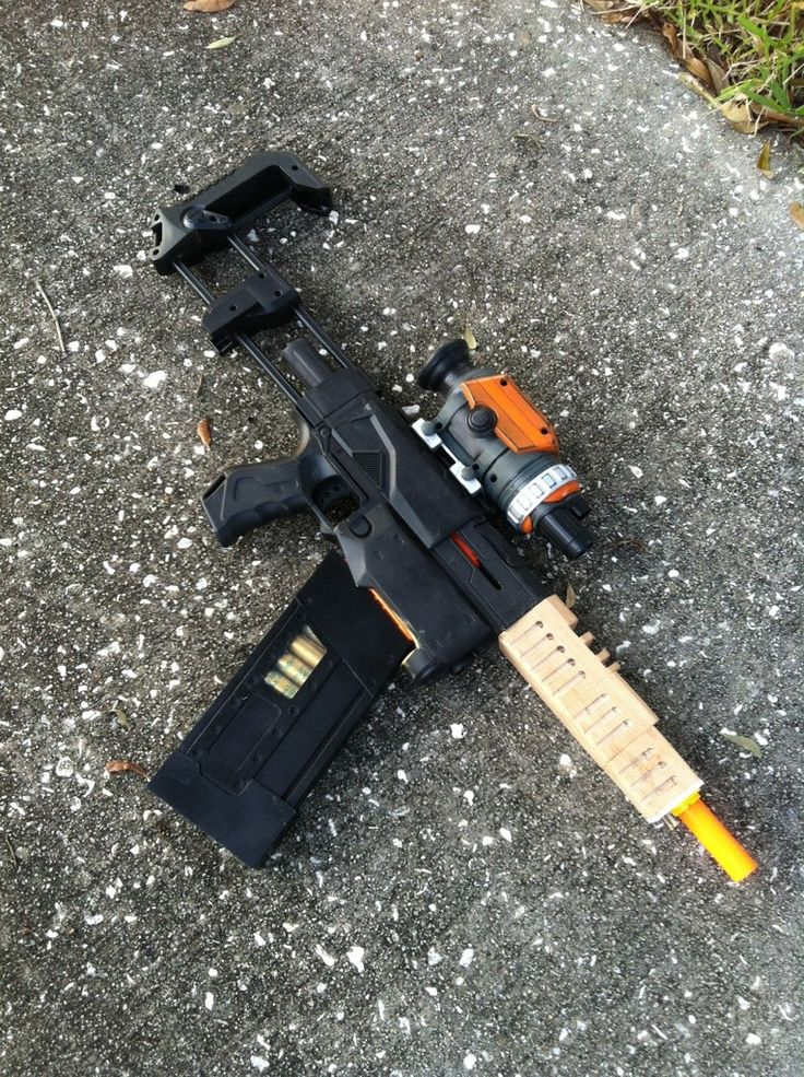 """Step-by-step of how this guy modified a Nerf gun into Jayne Cobb's """"Vera"""" gun from Firefly. WOW."""