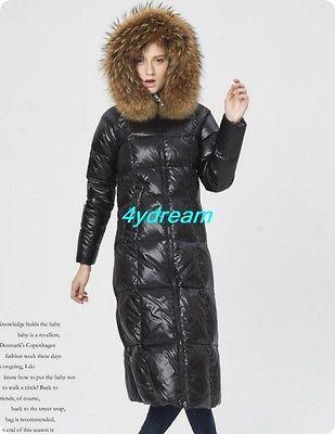 Горячий мех с капюшоном зима снег женский пуховик средний длинный парка куртки блестящий одежда