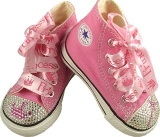 Girls Baby Posh Pink Princess Converse Shoes... these are zoo cute if
