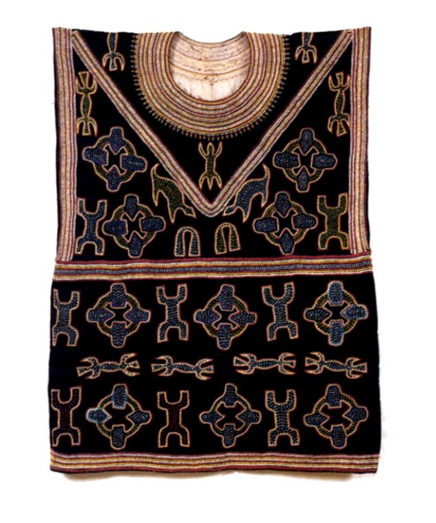 Africa | Embroidered tunic; cotton and wool | Bali, Cameroon | 20th century