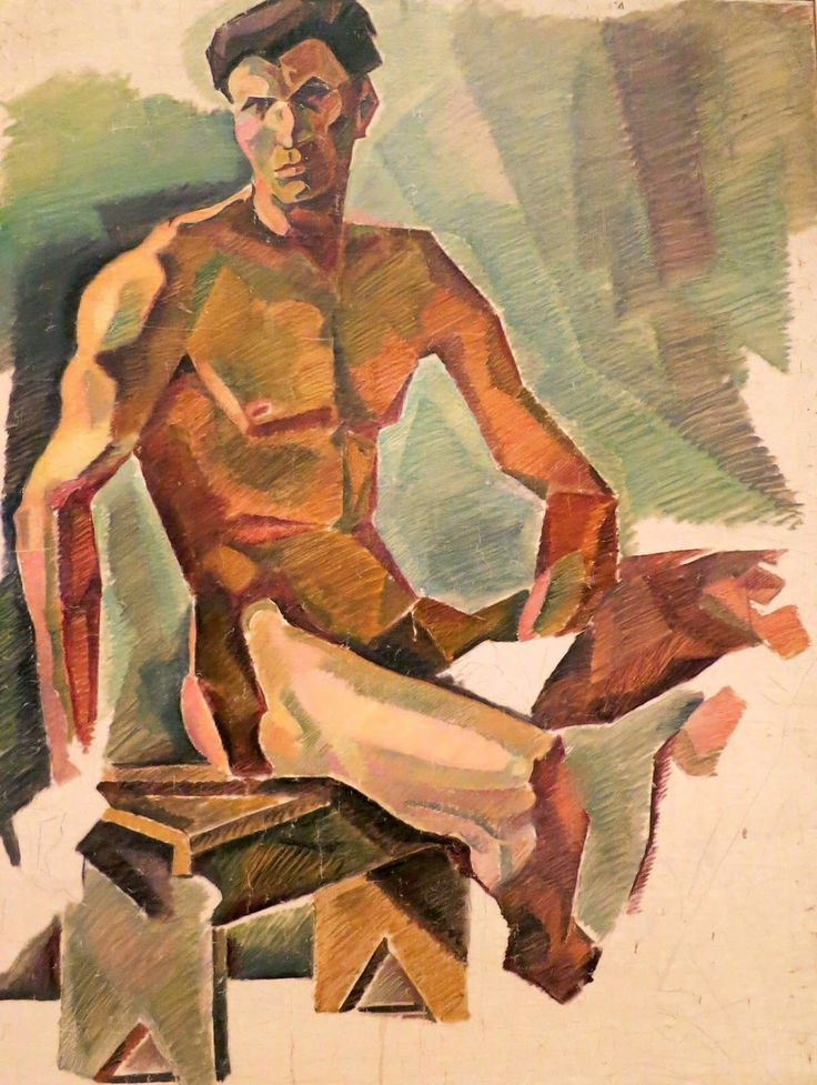 "terminusantequem: "" Yannis Tsarouchis (Greek, 1910-1989), Nude, Seated, 1933-34, oil on canvas """