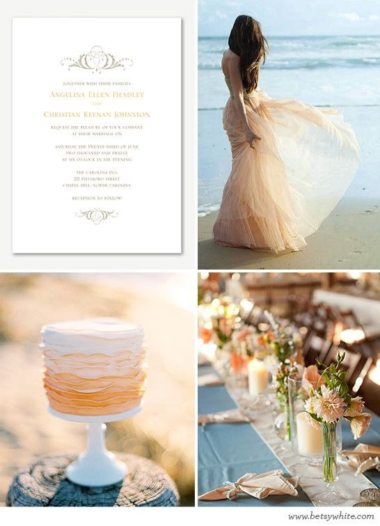 Creamsicle Beachside Nuptials // Flights of FancyBetsy White, Blog Contributor, Paisley Petals, Beachside Nuptial, Honeymoons Plans, Long Time, Bridal Ideas, Fancy Blog, Creamsicle Beachside