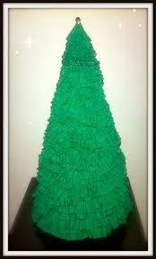 Resultado de imagen para arbolitos de navidad en papel crepe