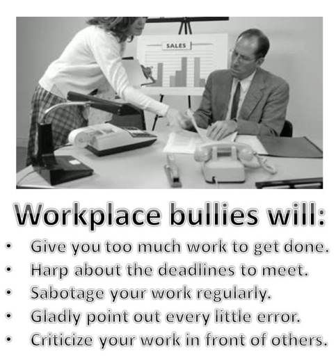Workplace intimidation is a method used by the workplace bully to lower their morale, take away their self confidence and eventually drive them out of the company. Why? they are simply jealous of you. Your abilities, your dedication, your family, your possessions and your positive personality. You have what they want and they will persistently harass you until you leave. Find more information at our website: http://Workplace-bully.com