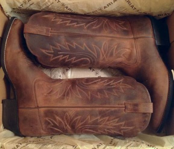 Leather Cow girl boots